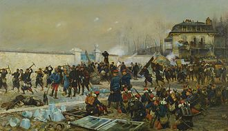 Battle of Villiers - The Battle of Champigny by Édouard Detaille