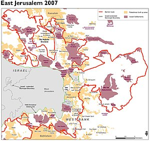 Israeli West Bank barrier - The barrier in Jerusalem, 2007