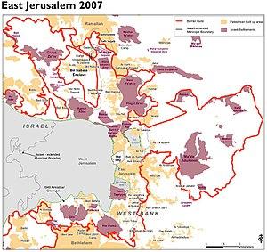 Israeli West Bank barrier - The barrier in Jerusalem, 2007
