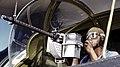 Jesse Rhodes Waller, A.O.M., third class, tries out a 30-calibre machine gun 1a34876v (cropped).jpg