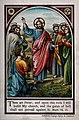 Jesus appoints Peter as head of the church. Chromotypograph. Wellcome V0034721.jpg