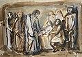Jesus helbreder sygt barn. Elisa Maria Boglino.Blandet teknik. ca 1965.jpg