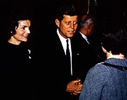 John and Jackie Kennedy campaigning in Appleton, Wisconsin in March 1960.