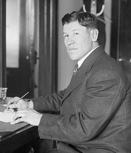 Jim Thorpe--gold medalist at the 1912 Olympics, in the pentathlon and decathlon events Jim Thorpe 1913b-cr.jpg
