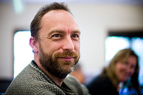 Jimmy Wales, kunfondinto de Vikipedio