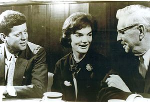 Patrick V. McNamara - President John F. Kennedy and First Lady Jacqueline Kennedy Onassis meeting with Senator Patrick V. McNamara.