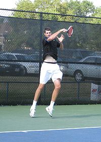 feet 8½-inches tall American John Isner took the singles titles in