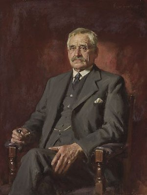 Banjo Paterson - John Longstaff's portrait of Banjo Paterson, winner of the 1935 Archibald Prize