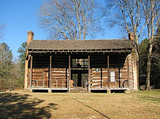 Dogtrot house - The John Looney House near Ashville, Alabama, a rare example of a full two-story dogtrot.  It was built c. 1818, during the Alabama Territorial period.