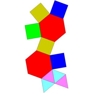 Augmented hexagonal prism - Image: Johnson solid 54 net
