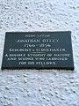 Jonathan Otley lived here plaque, Keswick UK.jpg