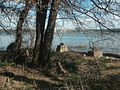 Jones Point Lighthouse - remains of old lighthouse at the river edge.JPG