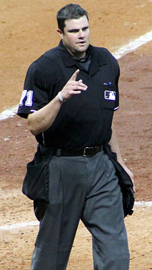Jordan Baker home plate umpire August 2014 MMP.jpg