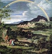 Joseph Anton Koch: Героический ландшафт с радугой (1805)