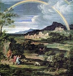 Joseph Anton Koch – Pejzaż heroiczny z tęczą, 1805