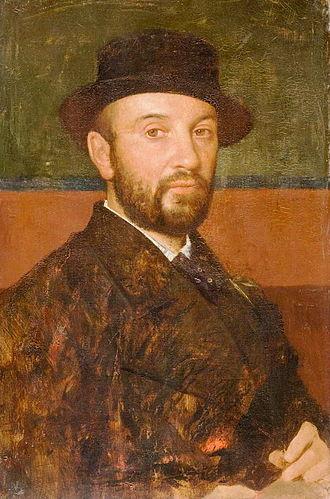 Jules-Élie Delaunay - Self-portrait (c.1860)