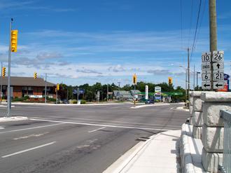 Ontario Highway 10 - The northern terminus of Highway 10 in Owen Sound
