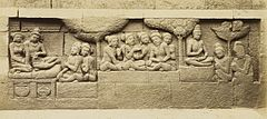 KITLV 40072 - Kassian Céphas - Relief of the hidden base of Borobudur - 1890-1891.jpg