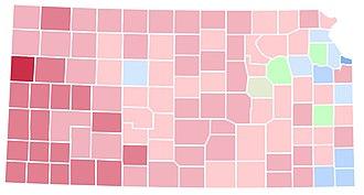 1992 United States presidential election in Kansas - Image: KS1992