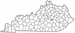 Location of Berea, Kentucky
