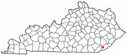 Location of Wallins Creek, Kentucky Kentucky