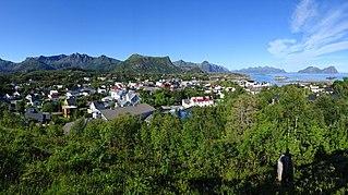 Kabelvåg Village in Northern Norway, Norway