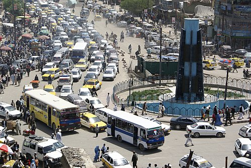 traffic jams in kabul city Department identifies 182 points in the capital to be targeted for traffic jam reductions.