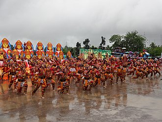Butuanon people - A dance number being presented at the annual Kahimunan Festival at the Libertad Sports Complex in Butuan City. The festival is celebrated every January.