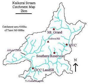 Kaikorai Stream - The Kaikorai water catchment