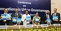 Kamal Nath releasing an advisory on Tariff Structure for Urban Water Supply and Sewerage Services, at the Conference on Innovation in Urban Governance.jpg