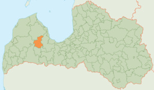 Kandava Municipality - Image: Kandavas novada karte