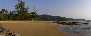 Khao Lak - Panorama of a Khao Lak beach (Mar 2010)