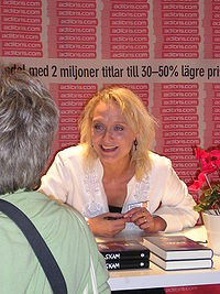 Karin Alvtegen during the Gothenburg Book Fair 2005.