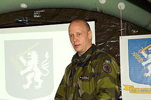 Swedish Army - Maj. Gen. Karl Engelbrektson is the current Chief of Army.