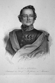 Karl Theodor von Küstner, Lithographie von Ignaz Fertig, 1840 (Quelle: Wikimedia)
