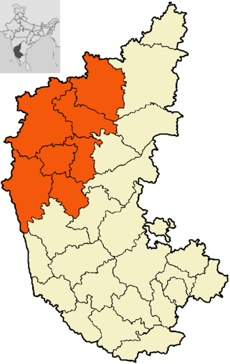 Belgaum division - The districts of Belagavi division.
