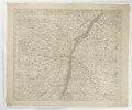 Karta över Elsass med Strassburg, 1730-1739 - Skoklosters slott - 97990.tif