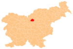The location of the Municipality of Gornji Grad