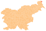 The location of the Municipality of Hodoš