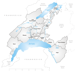 Future districts of Canton Vaud