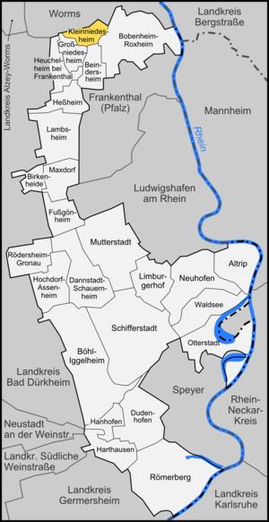 Kleinniedesheim - Image: Karte Kleinniedesheim