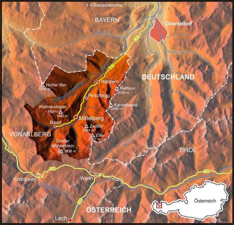 Mappa della Valle