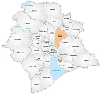 Oberstrass - The quarter of Oberstrass in Zürich.