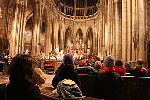 Advent - Rorate mass in Prague Cathedral, Czech Republic