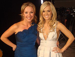 Katie Cook - Cook with Carrie Underwood in April 2010