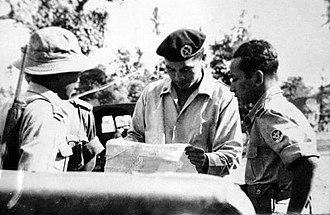 Alexander Evert Kawilarang - Kawilarang (middle) and Suharto (right)