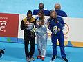 Kazan 2015 - Victory Ceremony 100m breaststroke W.JPG