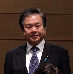Kazunari Kitagawa cropped 1 Members of the Global Legislators Organization for a Balanced Environment Edward Davey and Tim Hitchens 20130530.jpg