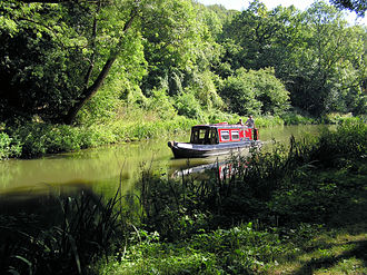 Canals of the United Kingdom - The Kennet and Avon Canal near the Dundas Aqueduct, Wiltshire