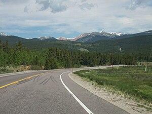 Kenosha Pass - Looking north toward the Front Range after the pass.